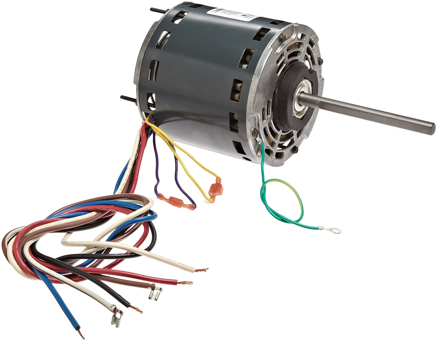 "Fasco D728 5.6"" Frame Open Ventilated Permanent Split Capacitor Direct Drive Blower Motor with Sleeve Bearing, 3/4-1/2-1/3HP, 1075rpm, 115V, 60Hz, 10.5-6.9-4.8 amps"