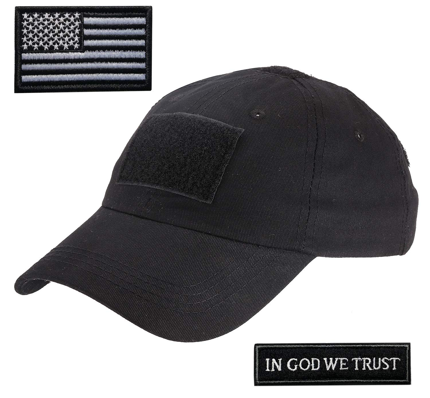 Amazon.com  Lightbird Tactical Hat with 2 Pieces Military Patches ... 4ea03a0b0521