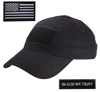 Amazon.com  Lightbird Tactical Hat with 2 Pieces Military Patches ... 5cd93b15862