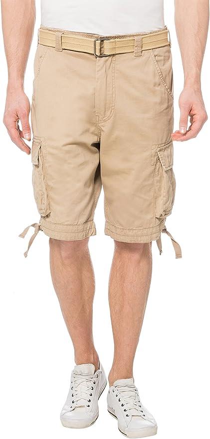 Lower East Pantalones cortos cargo de algodón para hombre: Amazon.es: Ropa y accesorios