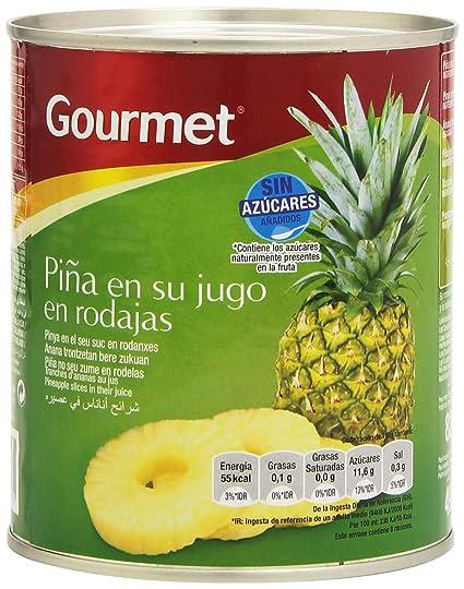 Gourmet Piña en su Jugo en Rodajas sin Azúcares Añadidos - 820 g