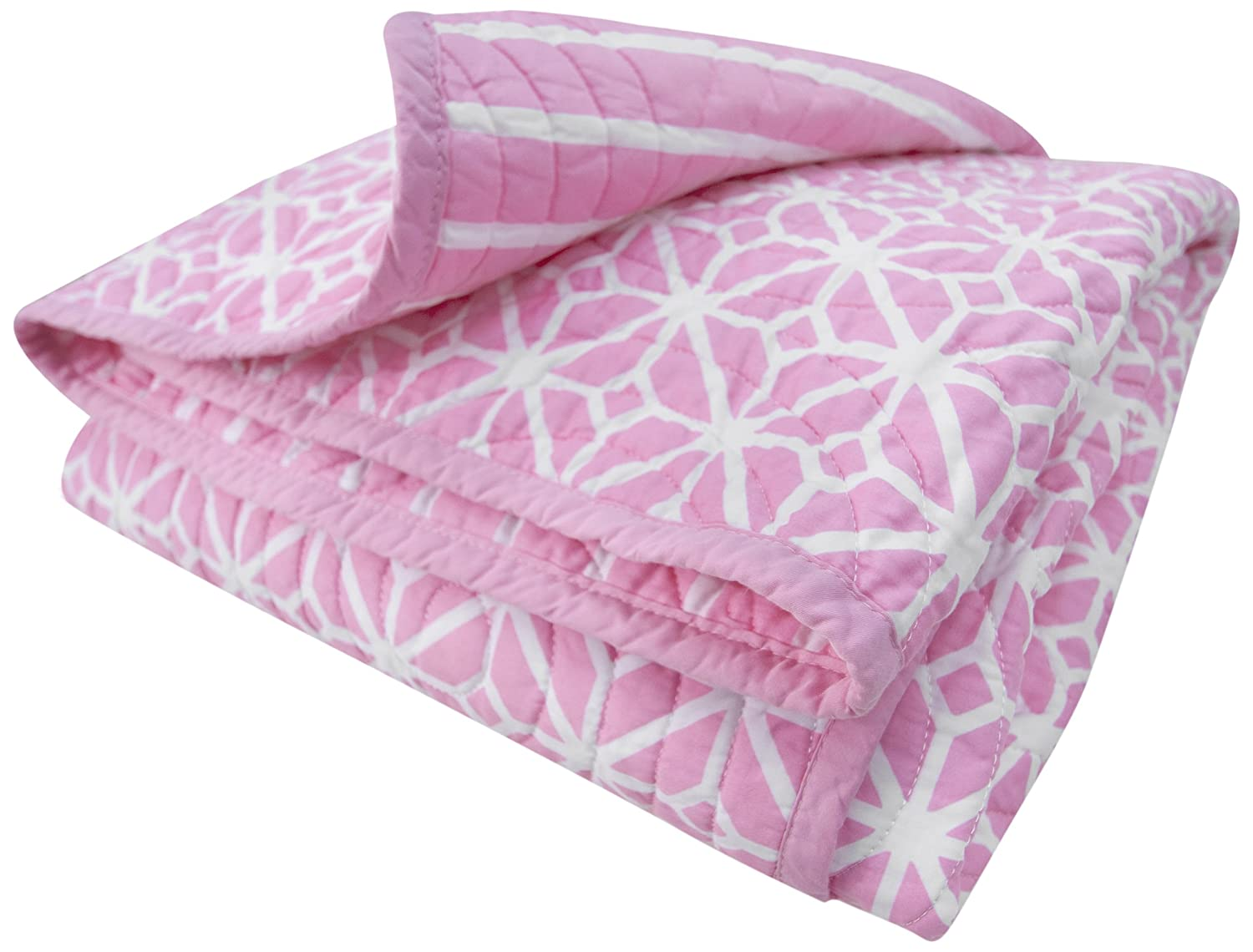CoCaLo Mix & Match Trellis/Candy Stripe Coverlet, Audrey (Discontinued by Manufacturer) 7911-020-103-0400