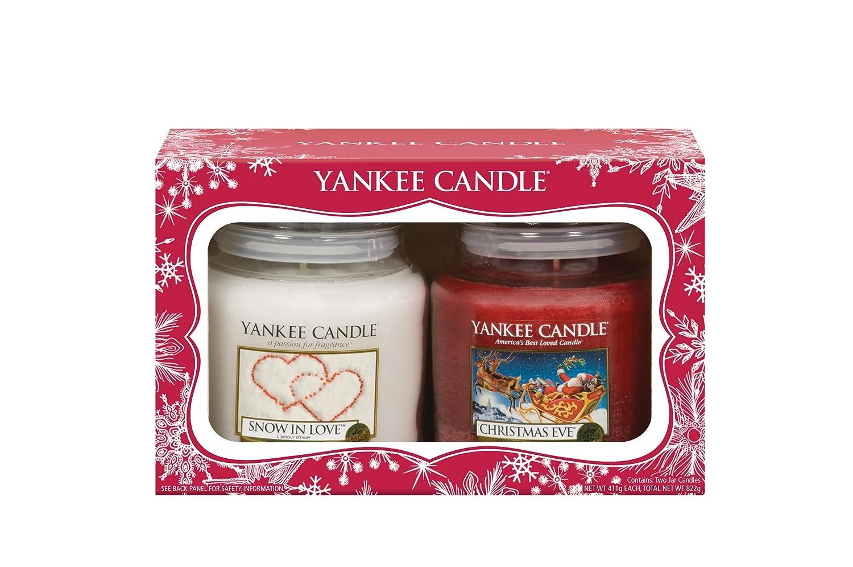 yankee candle 2 medium jars christmas gift set amazoncouk kitchen home