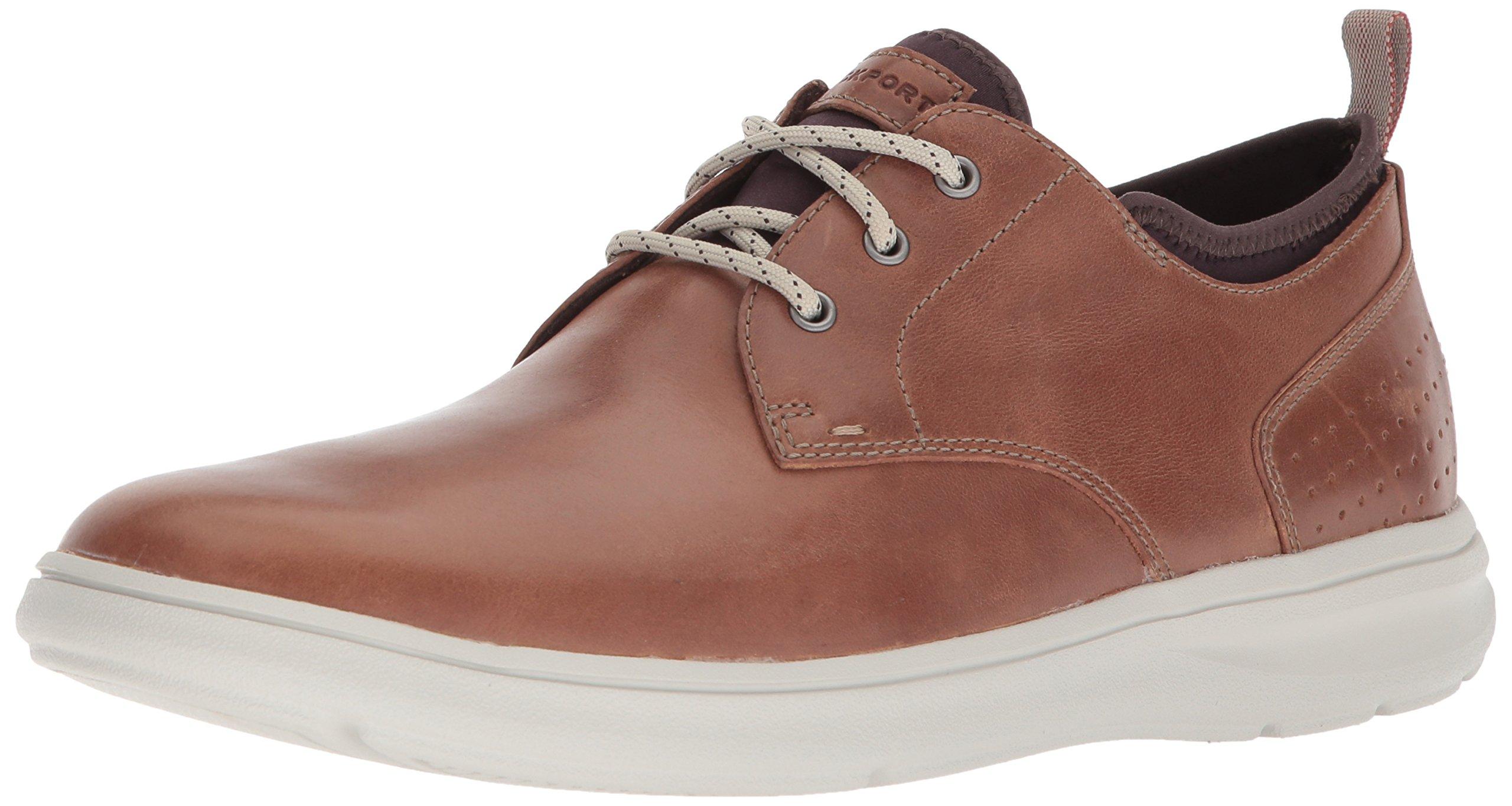 Rockport Men's Zaden Plain Toe Ox Shoe, boston tan leather, 10.5 W US