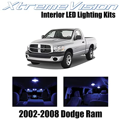 XtremeVision Interior LED for Dodge Ram 2002-2008 (10 Pieces) Blue Interior LED Kit + Installation Tool: Automotive