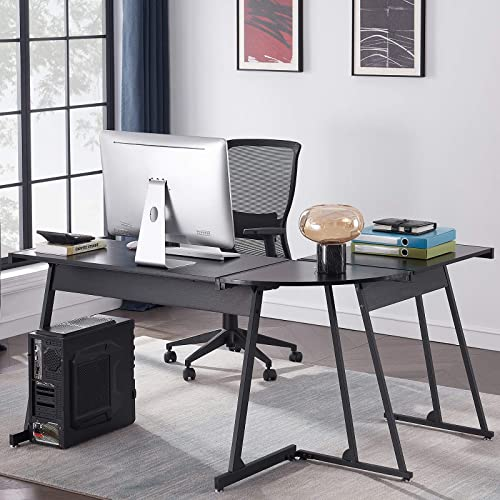 Deal of the week: Symylife Multifunction L Shaped Black Desk