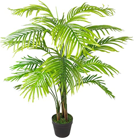 Leaf Leaf 7253 130cm Artificial Areca Palm Tree Extra Large Green Amazon Co Uk Kitchen Home