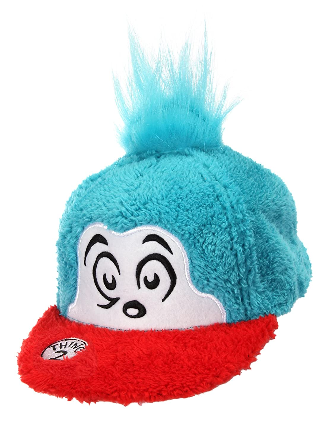 f39f991ef34 Amazon.com  Dr. Seuss Thing 2 Cat in The Hat Costume Fuzzy Cap   Clothing