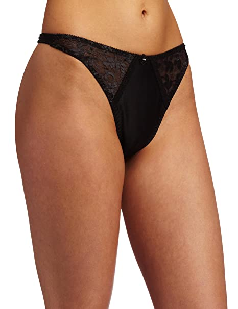 7976f811e9065f Carnival Womens Satin Lace Thong Panty at Amazon Women's Clothing store: Thong  Underwear