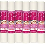 "Con-Tact Brand Grip Prints Non-Adhesive Contact Shelf and Drawer Liner, 12"" x 5', 6 Rolls, White"