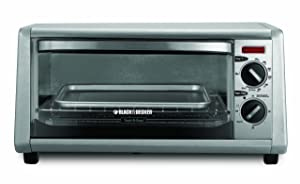 BLACK+DECKER TO1430S 4-Slice Toaster Oven, Stainless Steel