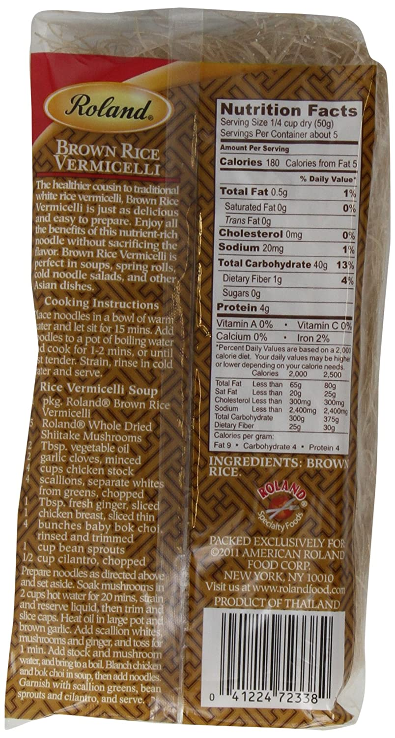 Amazon : Roland Rice Vermicelli, Brown, 88 Ounce (pack Of 12) : Asian  Noodles : Grocery & Gourmet Food
