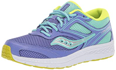 9b670811 Saucony Girls' Cohesion 12 LTT Sneaker Periwinkle/Turquoise 065 Wide US Big  Kid