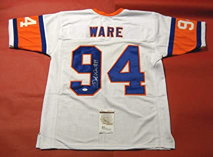 best loved f628f 2dc47 DEMARCUS WARE AUTOGRAPHED DENVER BRONCOS W 75TH THROWBACK ...