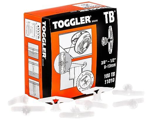 "Lot of 10 Toggler TC Medium-Duty 5//8/""-3//4/"" Drywall Anchor 20-Pack Toggle 50550"