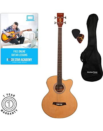Stretton Payne - Guitarra acústica de bajo con electrónica para enchufe Pizarra superior de palisandro