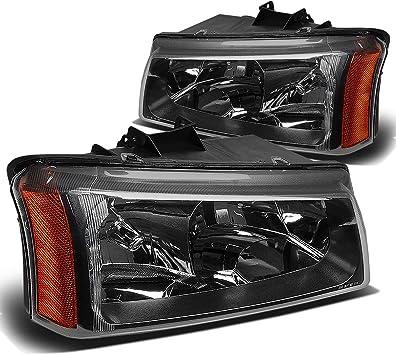 DNA Motoring HL-OH-CS03-4P-BK-CL1 Headlight Assembly ,Black clear Driver /& Passenger Side