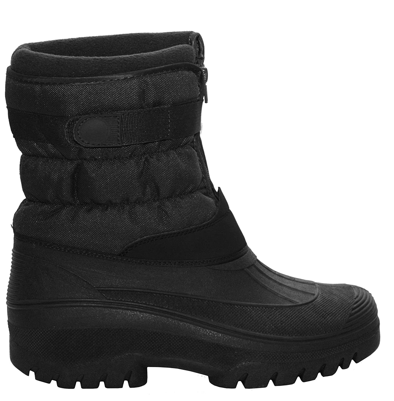 Black Mens LS89 Horse Riding Yard Waterproof Stable Walking Rain Snow Winter Ski Wellington Warm Farm Mucker Boots