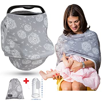 Premium Soft Nursing Breastfeeding Cover Scarf Multi Baby Car Seat Cover