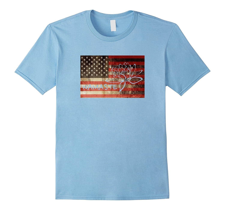American flag namaste lotus flower t shirt vaci vaciuk american flag namaste lotus flower t shirt vaci izmirmasajfo