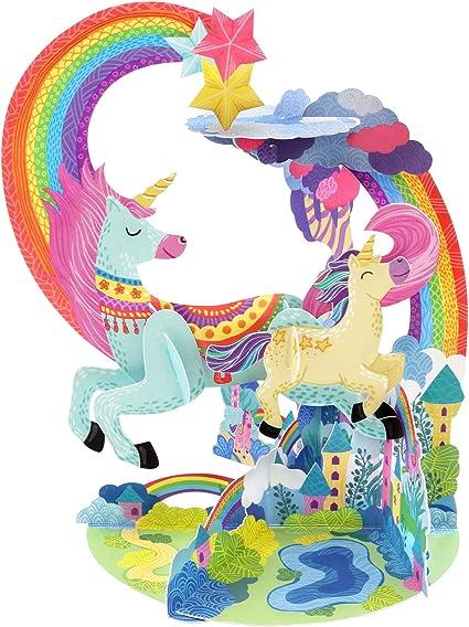 Unicorno Biglietto di Auguri con Origami Surprise