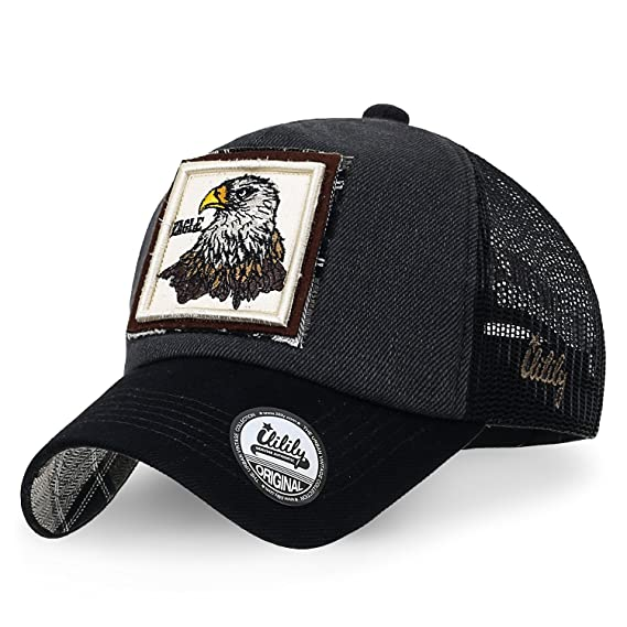 ililily Wolf Deer Animal Square Patch Casual Mesh Baseball Cap Trucker Hat   Amazon.co.uk  Clothing 004f91d55441