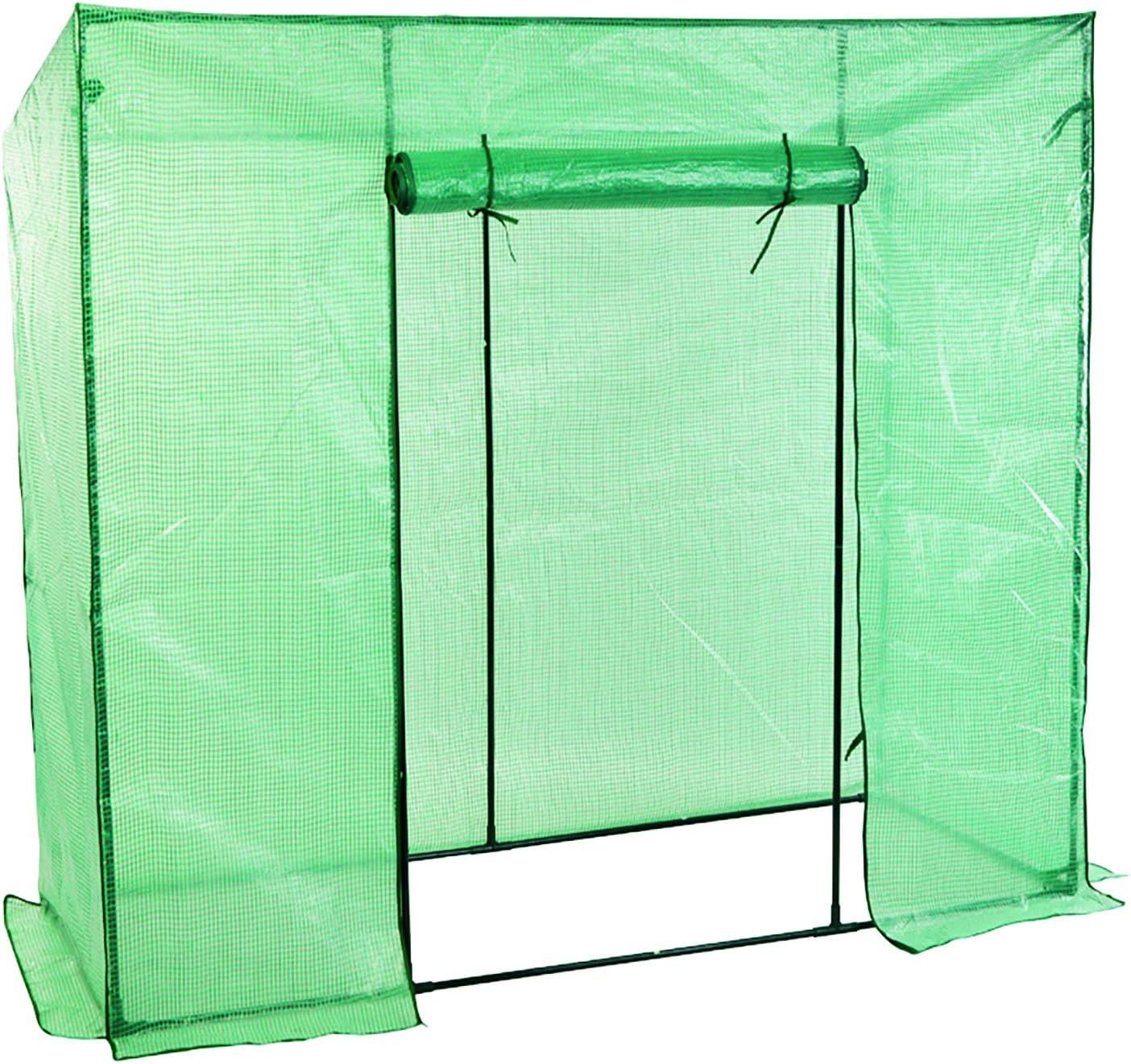 FineHome - Invernadero de plástico con Rejilla y Puerta Enrollable ...