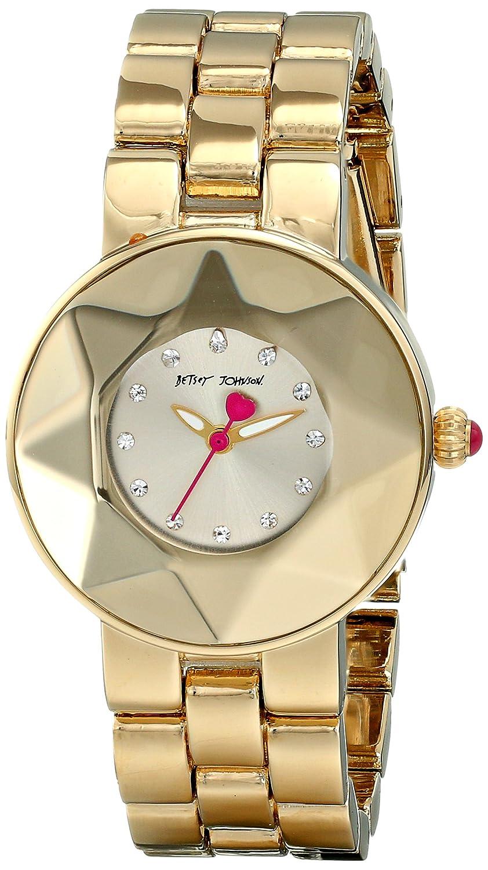 8ebaf346ec21 Amazon.com  Betsey Johnson Women s BJ00402-02 Analog Display Quartz Gold  Watch  Watches