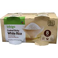 bibigo Restaurant-Style Cooked Sticky White Rice, 8 - 7.4-ounce Bowls