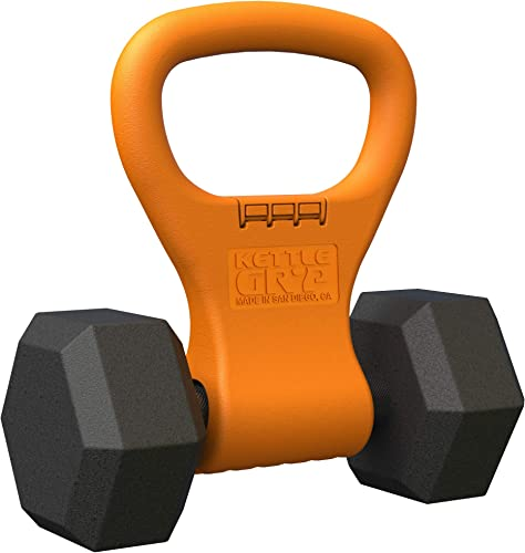 Kettle Gryp – Kettlebell Adjustable Portable Weight Grip Travel Workout Equipment Gear for Gym Bag, Crossfit WOD, Weightlifting, Bodybuilding, Lose Weight Clamps to Dumbells Made in U.S.A.