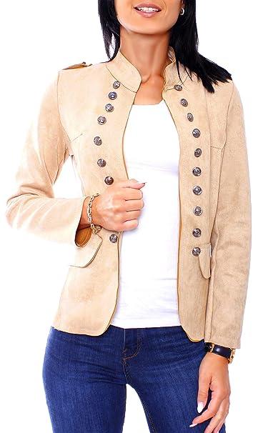 Easy Young Fashion - Chaqueta de Traje - para Mujer  Amazon.es  Ropa y  accesorios 73ceb3dd7a70