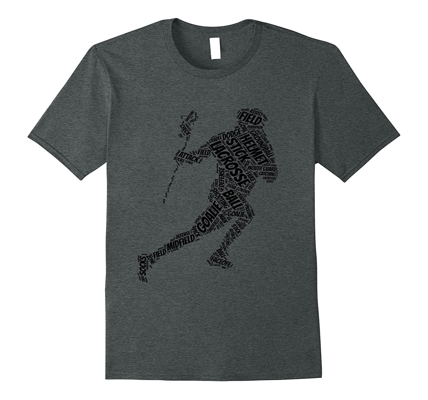 lacrosse goalie Player running with stick and bal T-shirt-Vaci