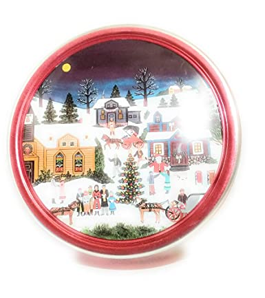 Christmas Tin Cookies.Christmas Holiday Butter Cookies Tin Village Scene