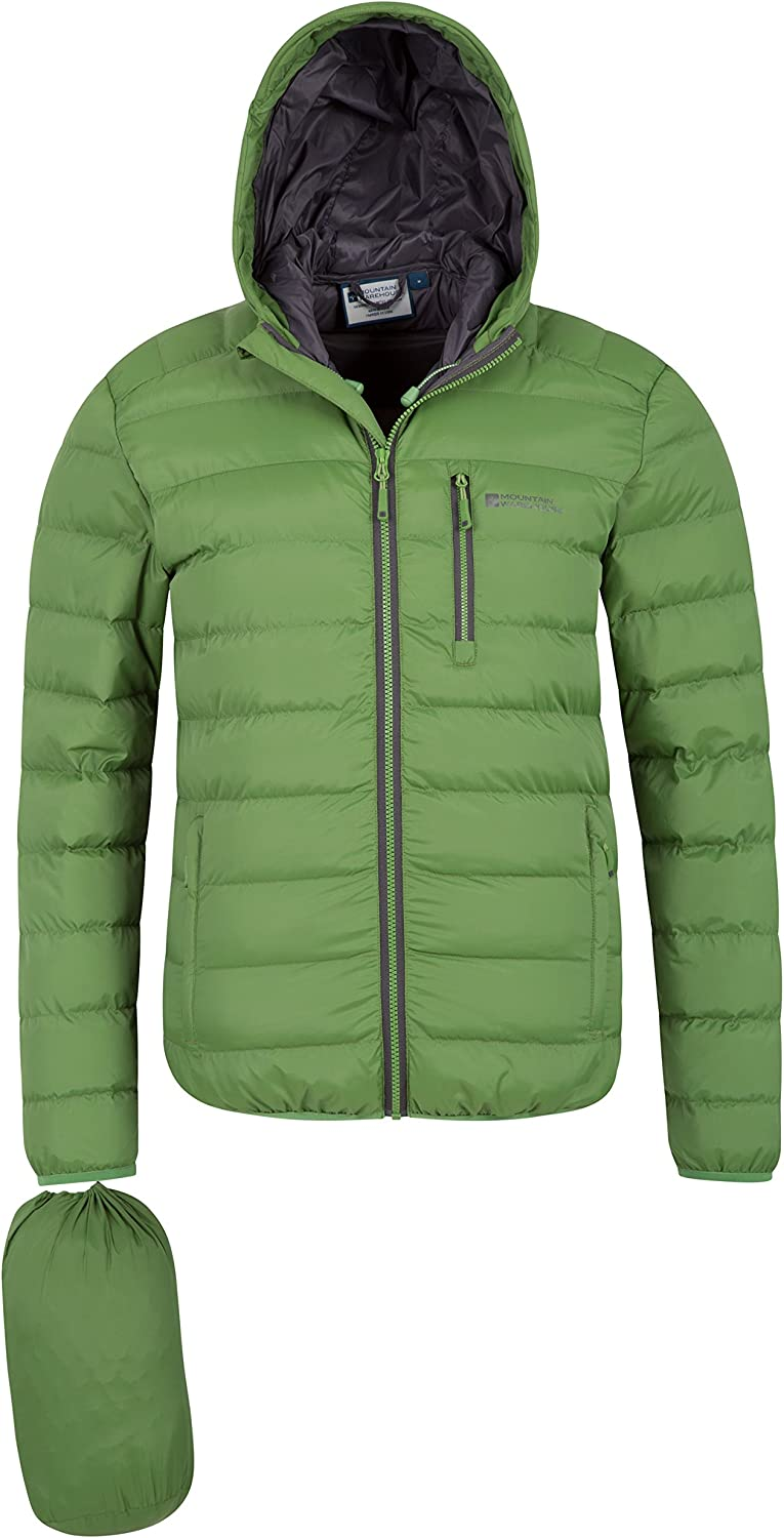 Lots of Pocket Mountain Warehouse Link Mens Padded Winter Jacket Ideal for Cold /& Wet Weather Showerproof Elastic Hem /& Cuffs for a Better Fit Warm Lightweight