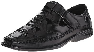 Stacy Adams Men's Biscayne Fisherman Sandal, Black, ...