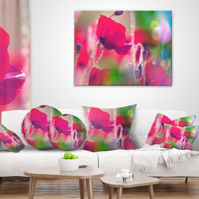 ArtVerse Katelyn Smith 16 x 16 Spun Polyester Delaware Love Pillow
