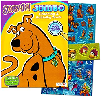 scooby doo coloring book with stickers 96 pages - Scooby Doo Coloring Book