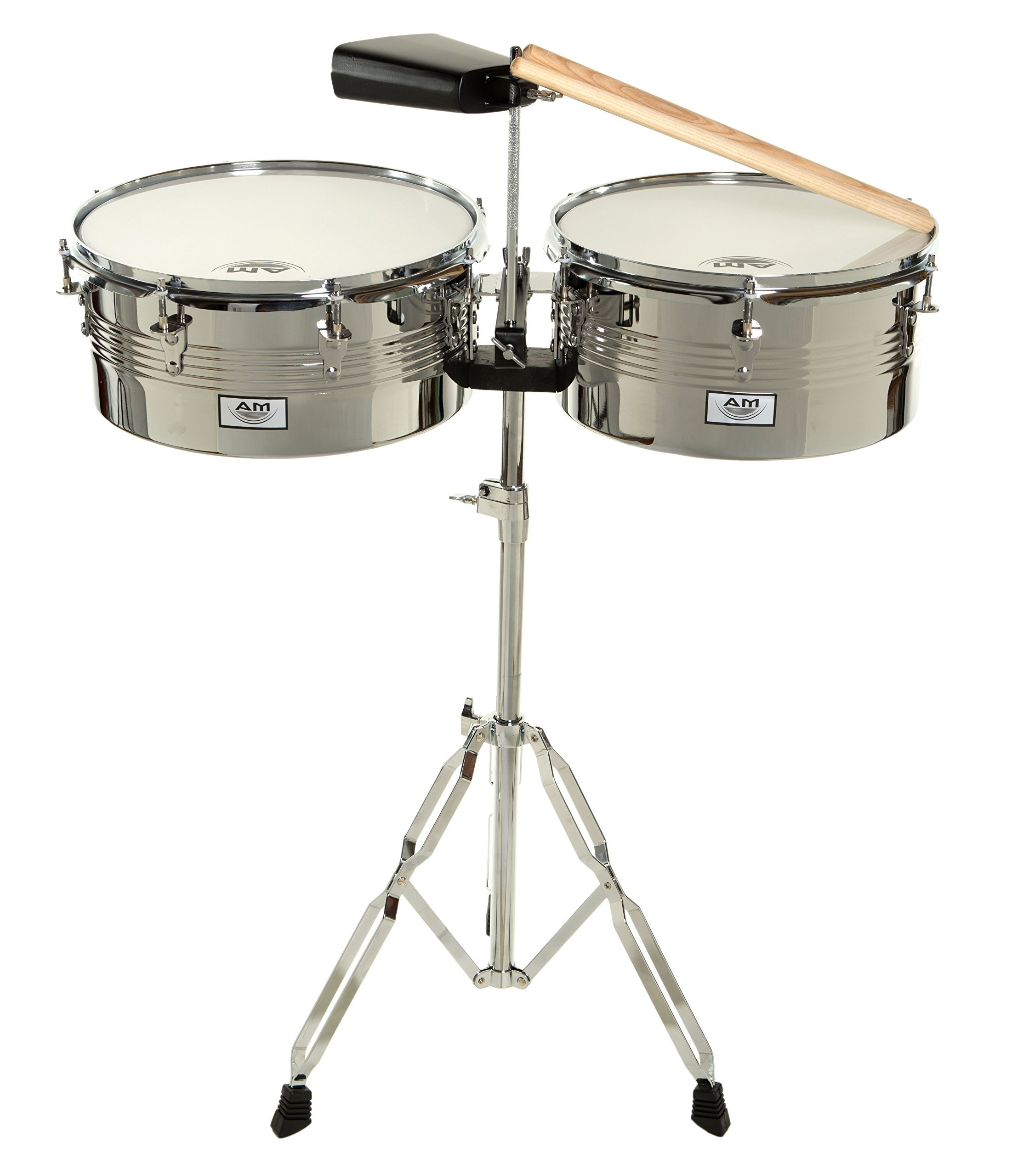 AM Percussion Libre Timbale Set with Stand and Cowbell