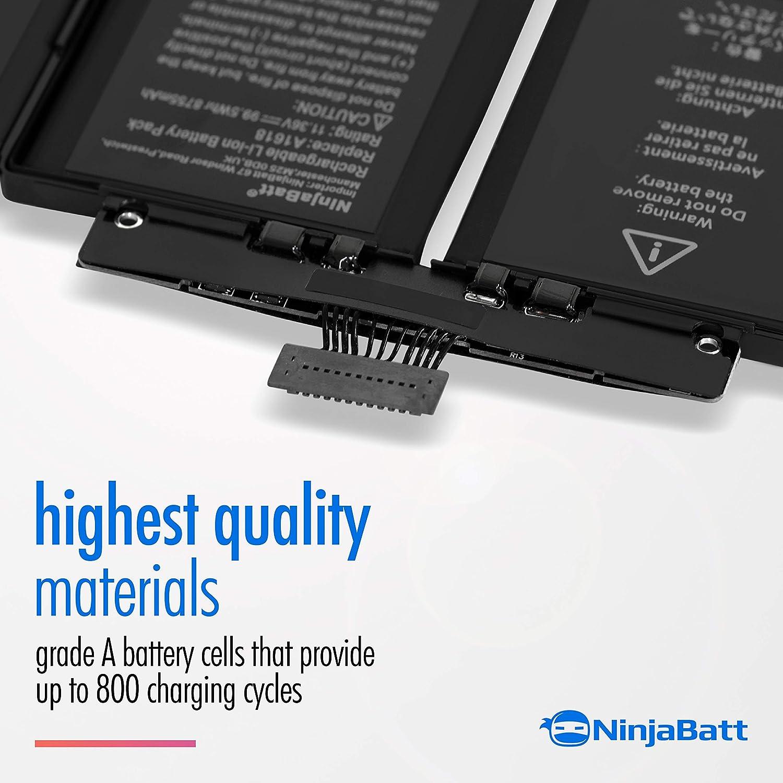 High Capacity NinjaBatt Battery A1618 for Apple MacBook Pro Retina 15 11.36V//99.5Wh 2015 Year ONLY A1398