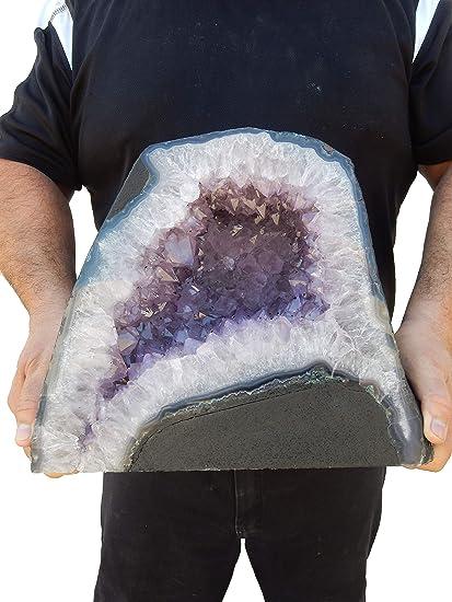 Amazon com: Beverly Oaks Large Amethyst Geode - Amethyst