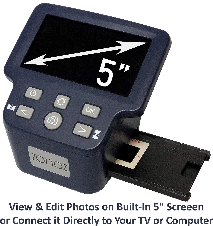 Large 5 LCD Converts 35mm Worldwide 110V-220V 126 zonoz FS-Four Digital Film /& Slide Scanner Converter w//HDMI Output Super 8 /& 8mm Film Negatives /& Slides to JPEG Easy-Load Adapters 110