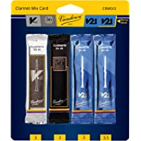 Vandoren CRMIX3 Bb Clarinet Reed Mix Card Includes 1 Each of V12 56 Rue Lepic V21 & Bonus V21