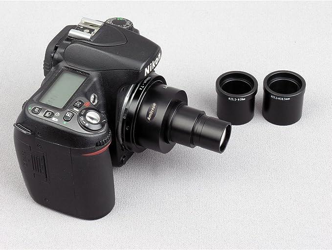 AmScope ca-can-nik-slr Canon y Nikon SLR/DSLR cámara adaptador ...