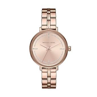 c596d4356c68 Michael Kors Reloj Analogico para Mujer de Cuarzo con Correa en Acero  Inoxidable MK3793: Amazon.es: Relojes