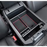 JDMCAR Compatible with Center Console Organizer Toyota 4Runner Accessories 2010-2021(Red Trim)