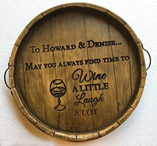 product image for Wine Barrel Carved Tray Personalized with your name