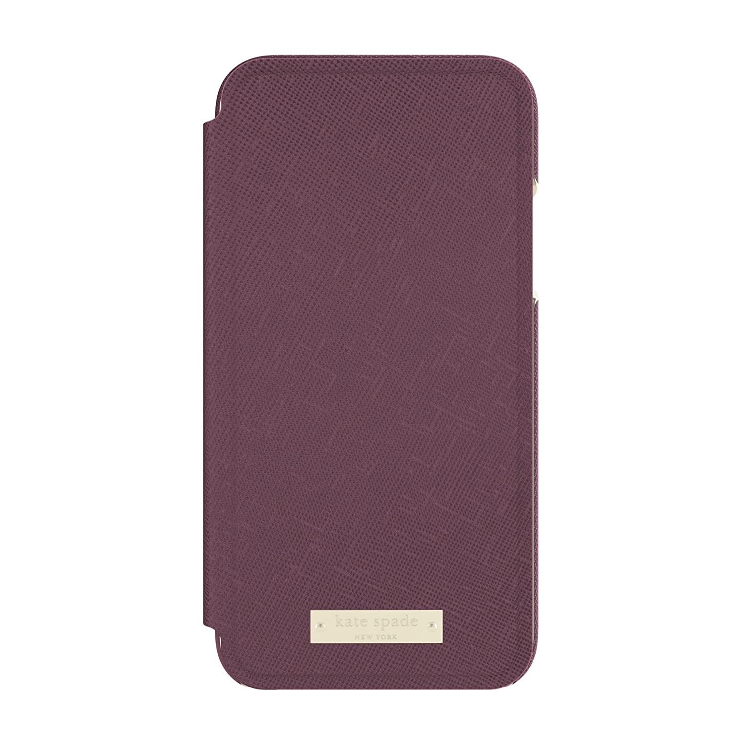 0430d2205a89 Amazon.com  kate spade new york Folio Case for iPhone X - Mahogany  Cell  Phones   Accessories
