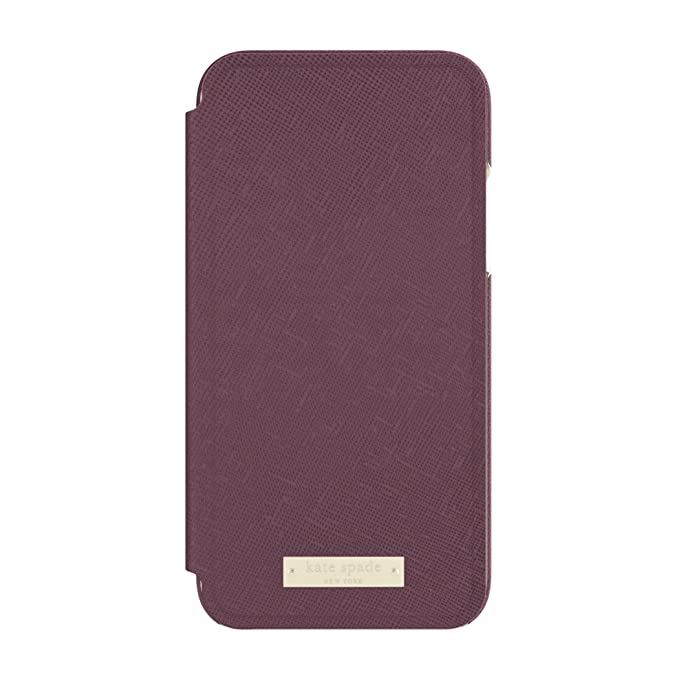 best sneakers db6e7 75221 kate spade new york Folio Case for iPhone X - Mahogany