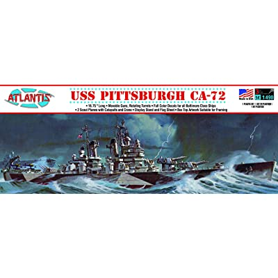 USS Pittsburgh CA-72 Heavy Cruiser Plastic Model Kit Famous Ship 1/490 Scale Atlantis: Toys & Games