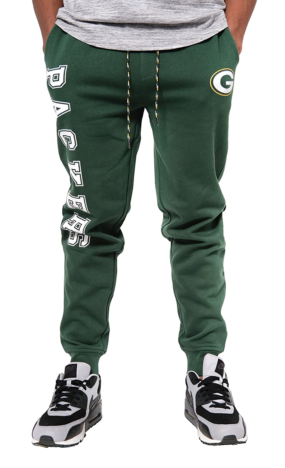 (Green Bay Packers, Large) - Icer Brands NFL Men's Jogger Pants Active Basic Fleece Sweatpants, Team Colour   B01MXIMJ25